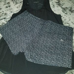 Size 26 rag & bone jeans black and white shorts